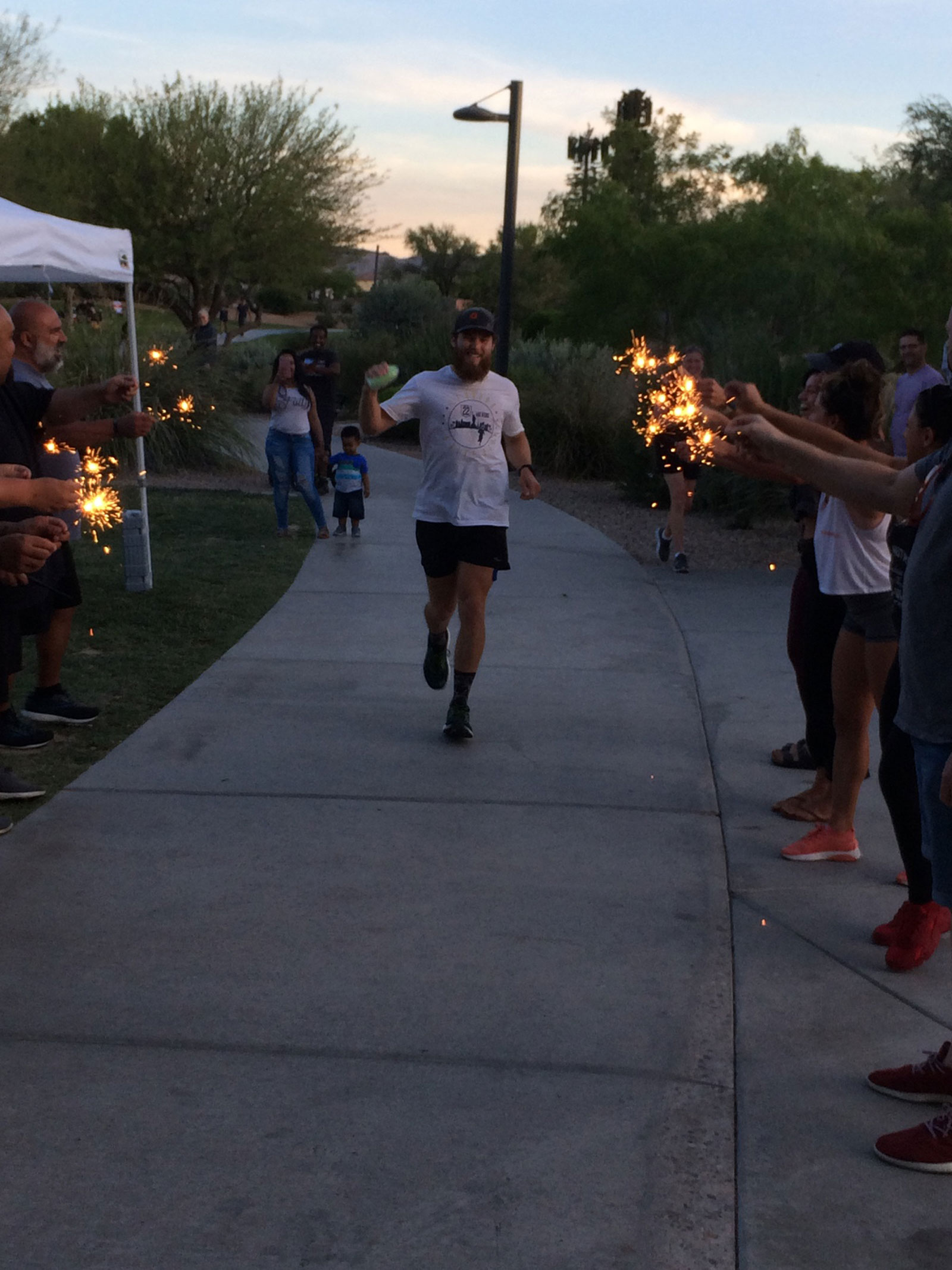 He ran 100 miles in a day to raise nearly $17,000 for suicide prevention programs for veterans