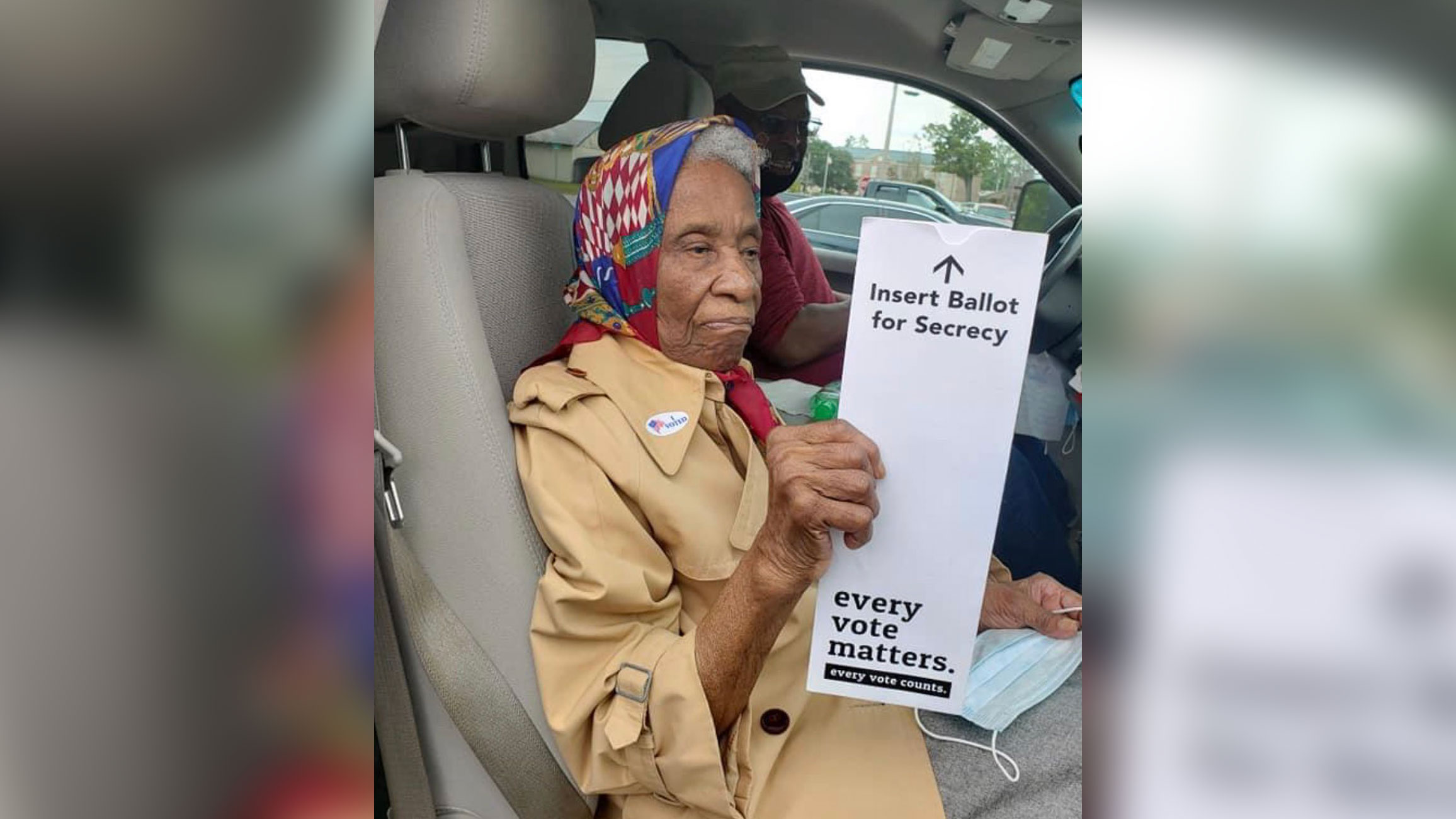 A pandemic didn't deter this 102-year-old from voting
