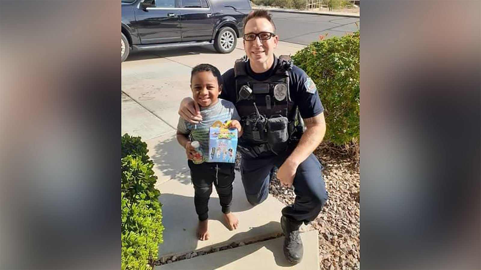 A 5-year-old boy wanted a McDonald's Happy Meal. So a police officer delivered it