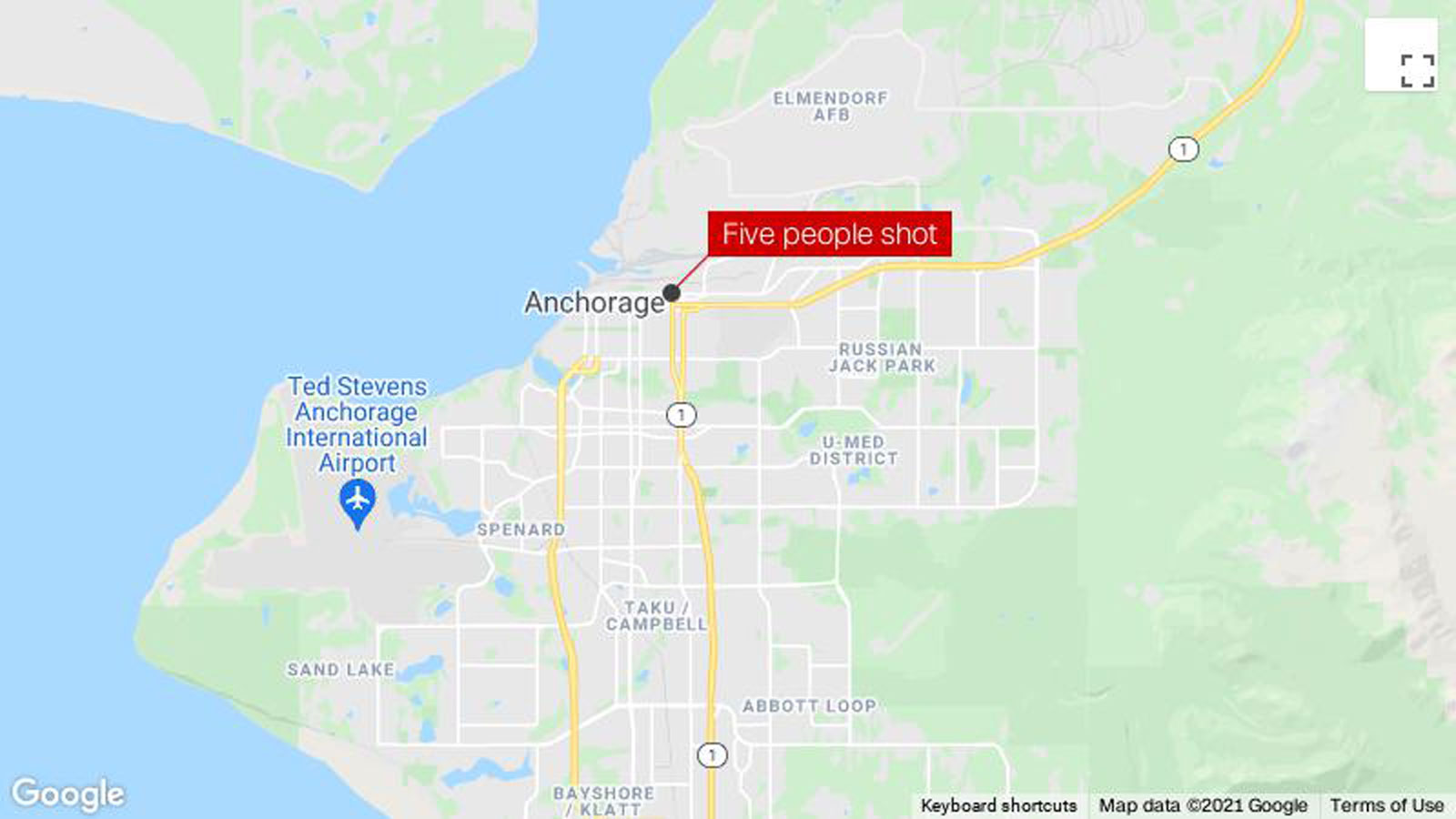Five shot, one fatally, in downtown Anchorage, Alaska