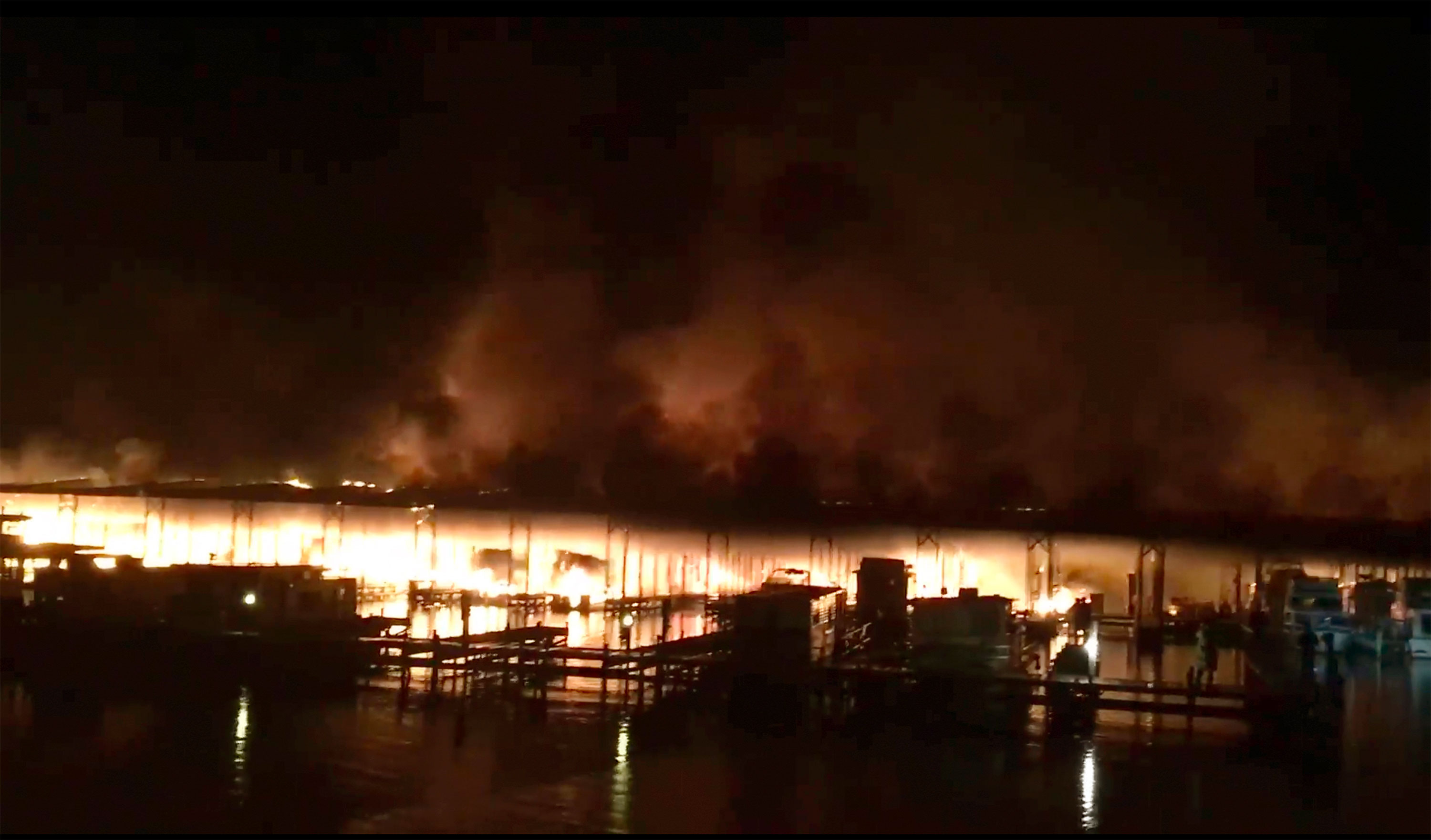 At least 8 dead and more missing as boats catch fire at an Alabama dock