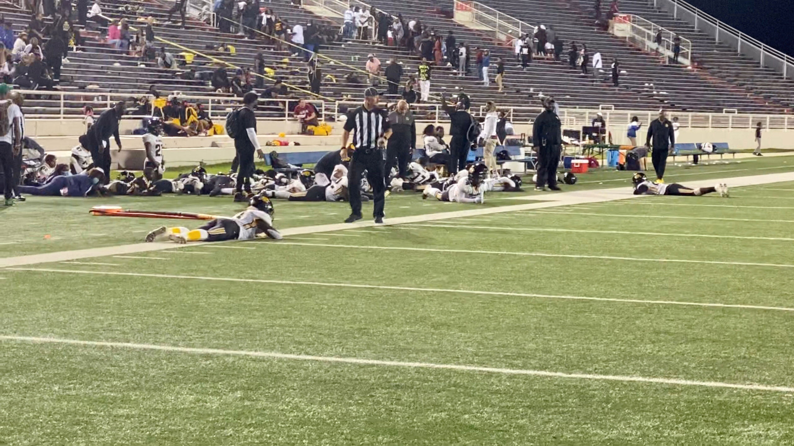 4 people shot outside a high school football game in Mobile, Alabama, police say