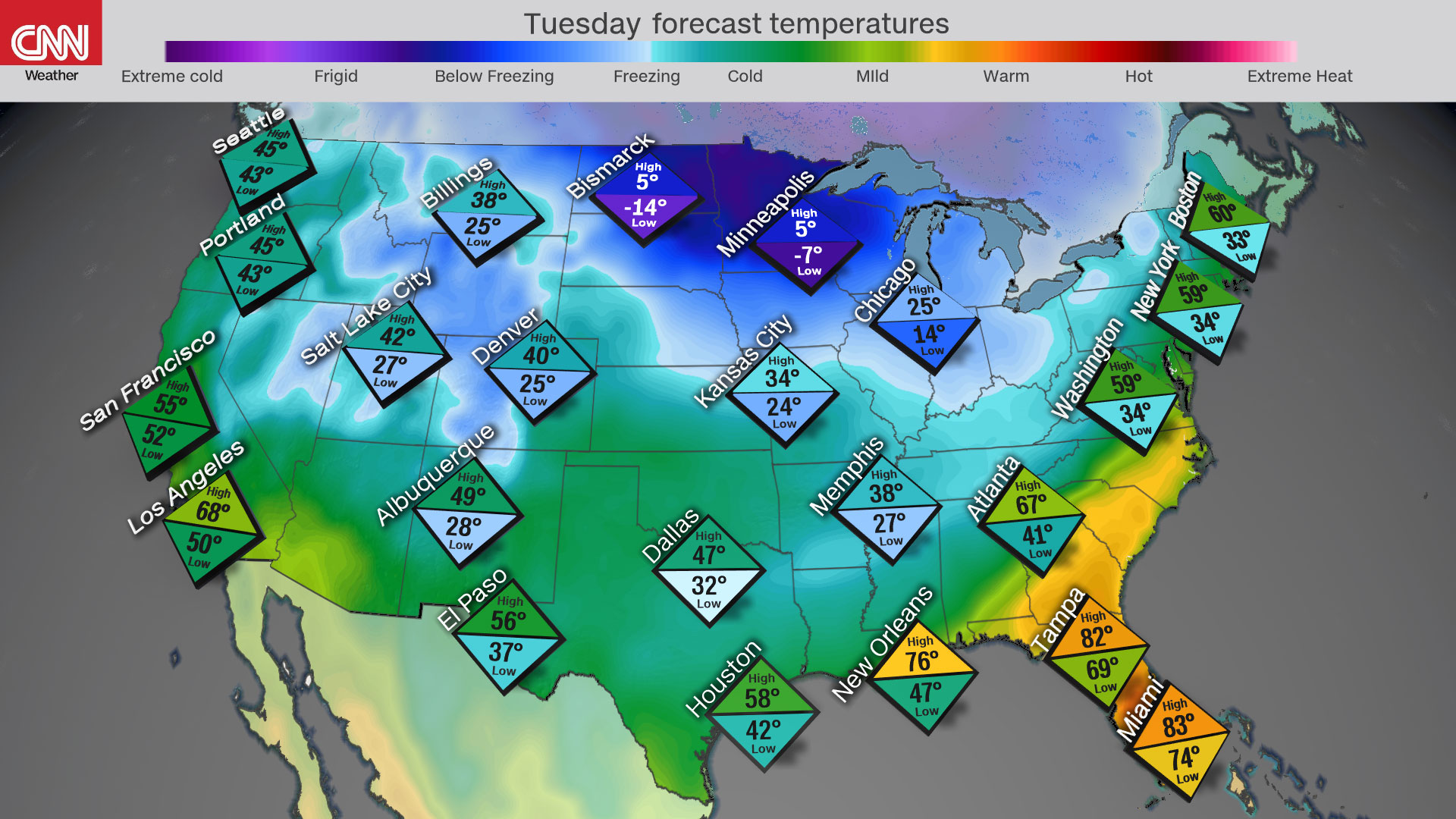 Nearly 65% of the US will feel below-freezing temperatures this week