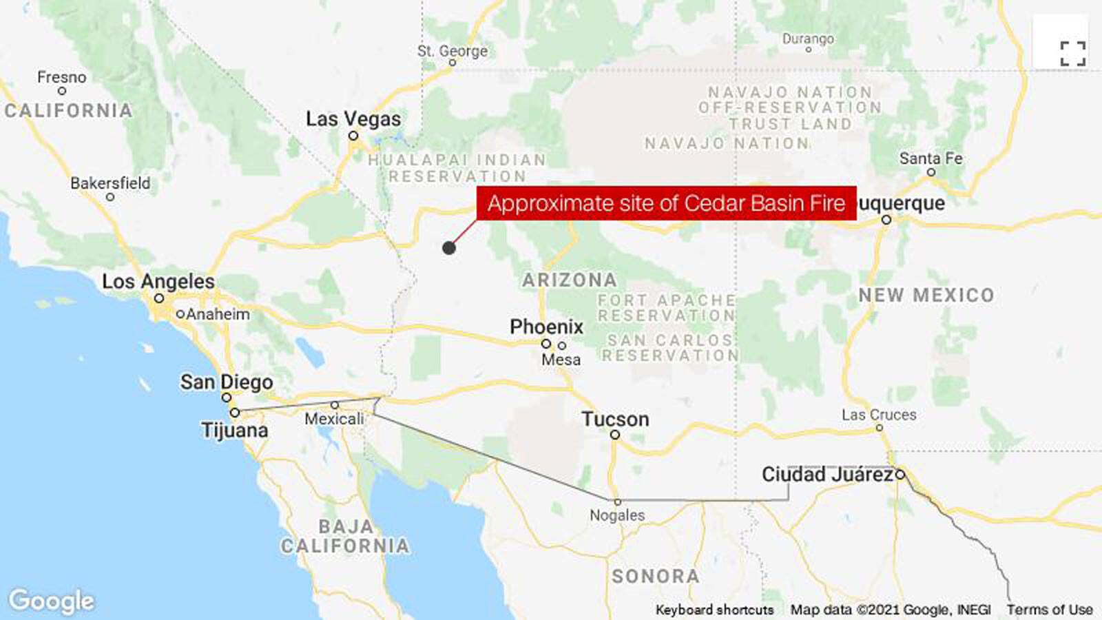 2 crew members killed while helping fight the Cedar Basin wildfire in Arizona
