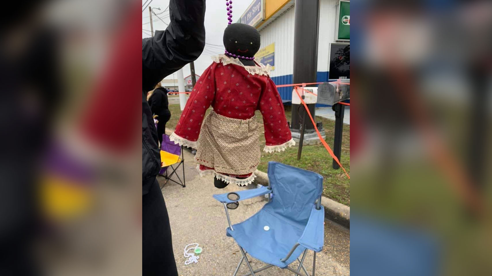 A 12-year-old was given a black doll with beads forming a noose around its neck at a Mardi Gras parade