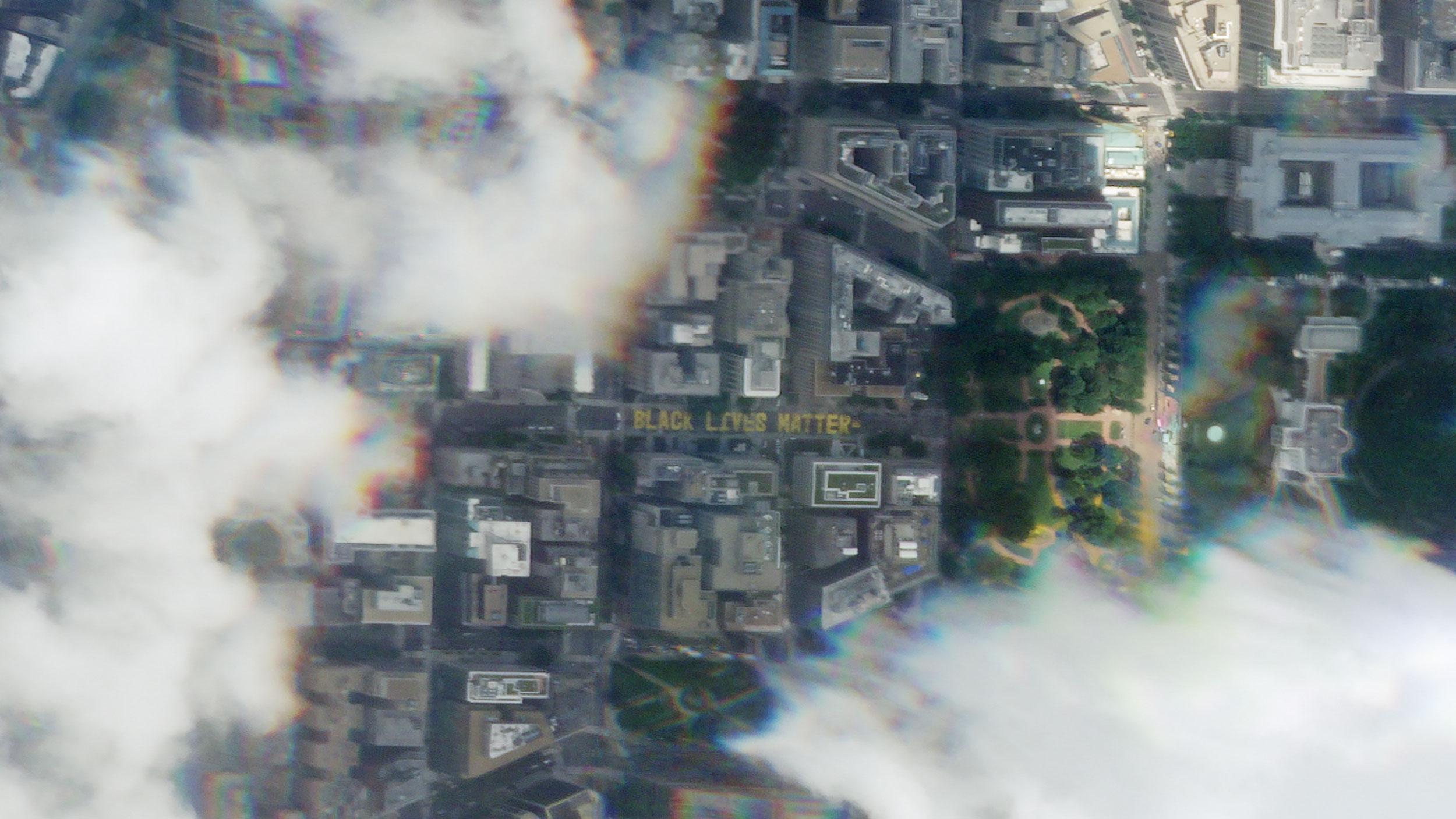 Washington's new Black Lives Matter street mural is captured in satellite image