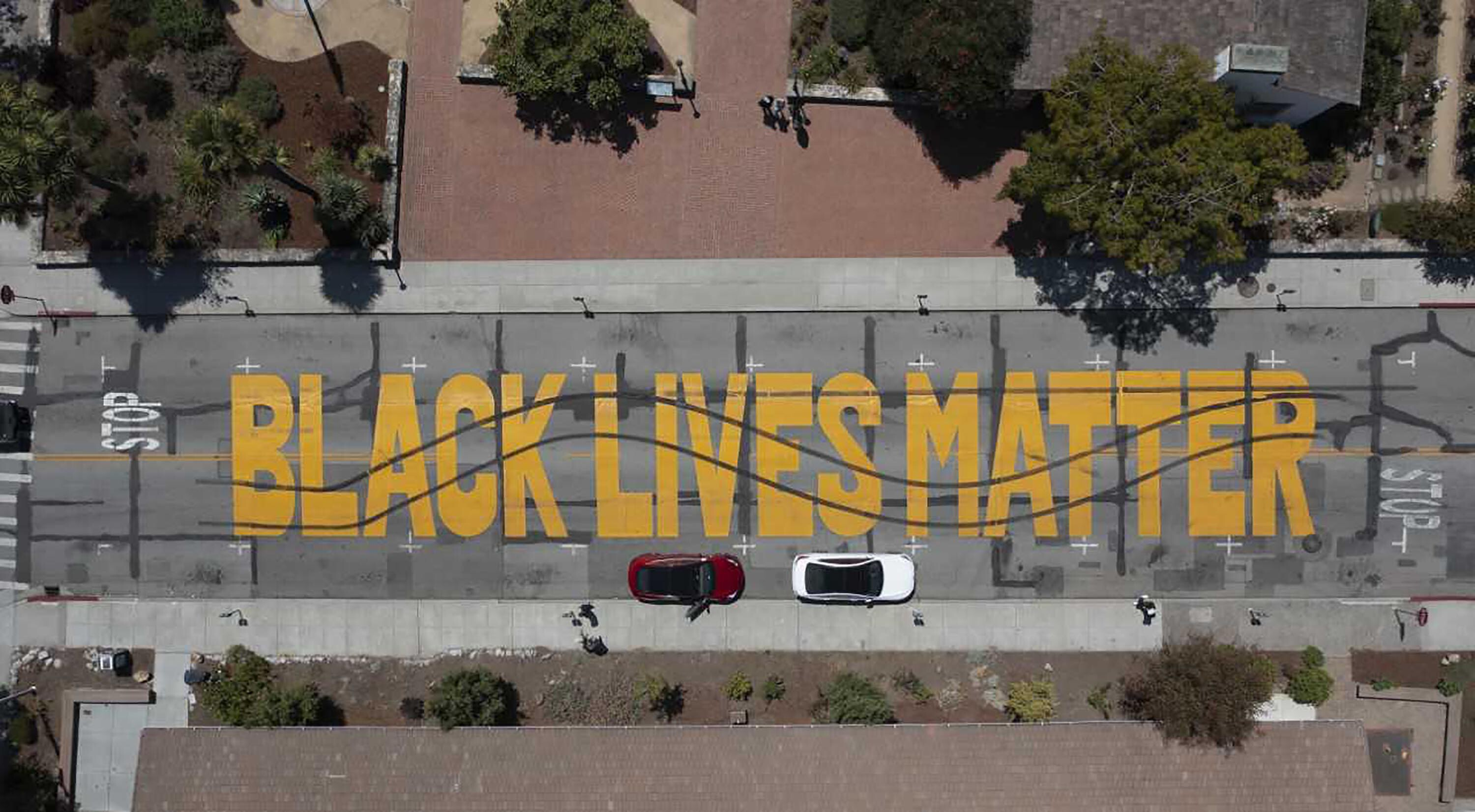 Two men charged for allegedly vandalizing a Black Lives Matter mural in California