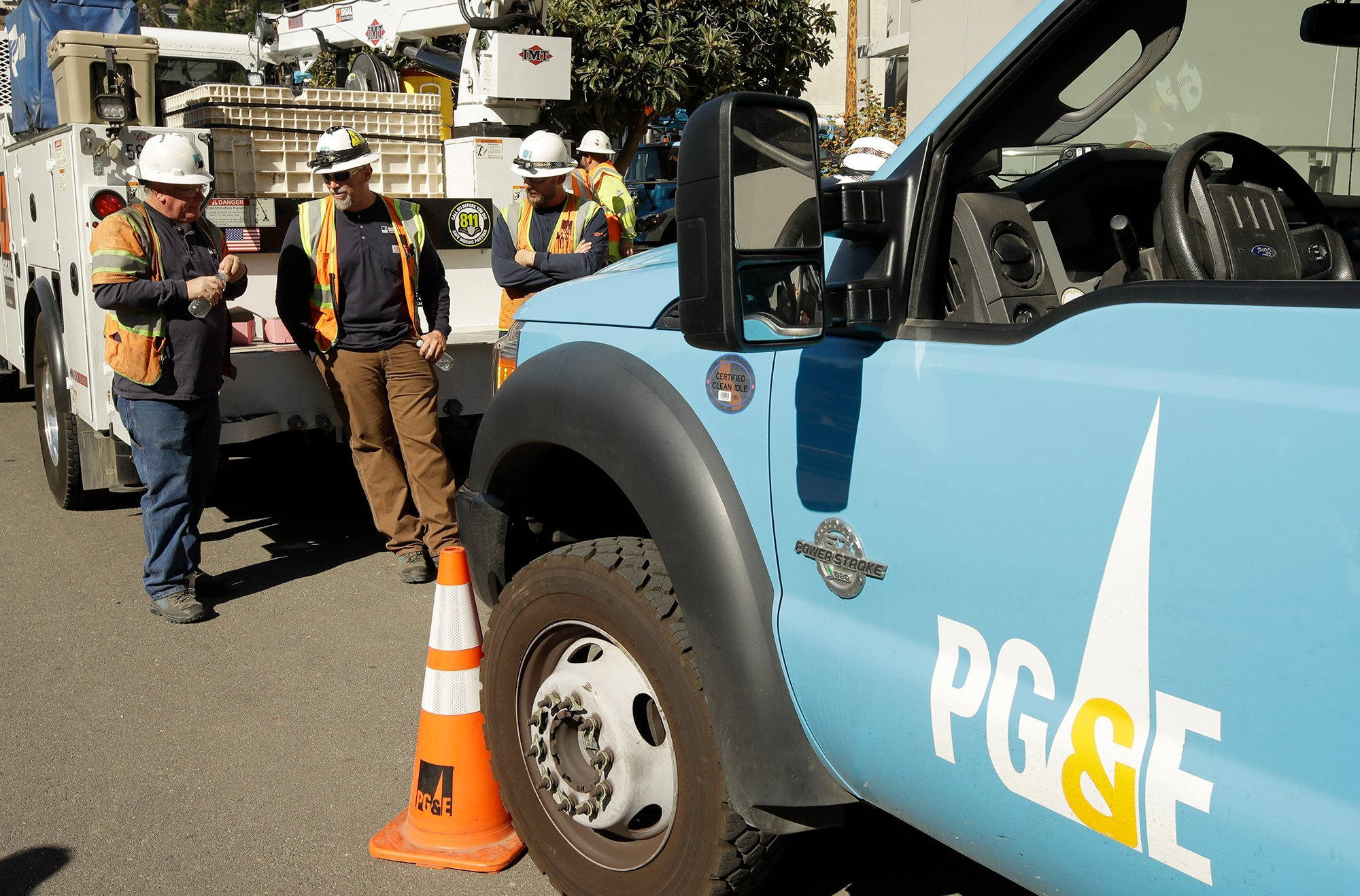 California's largest utility is restoring power to 50,000 customers after wind conditions improved