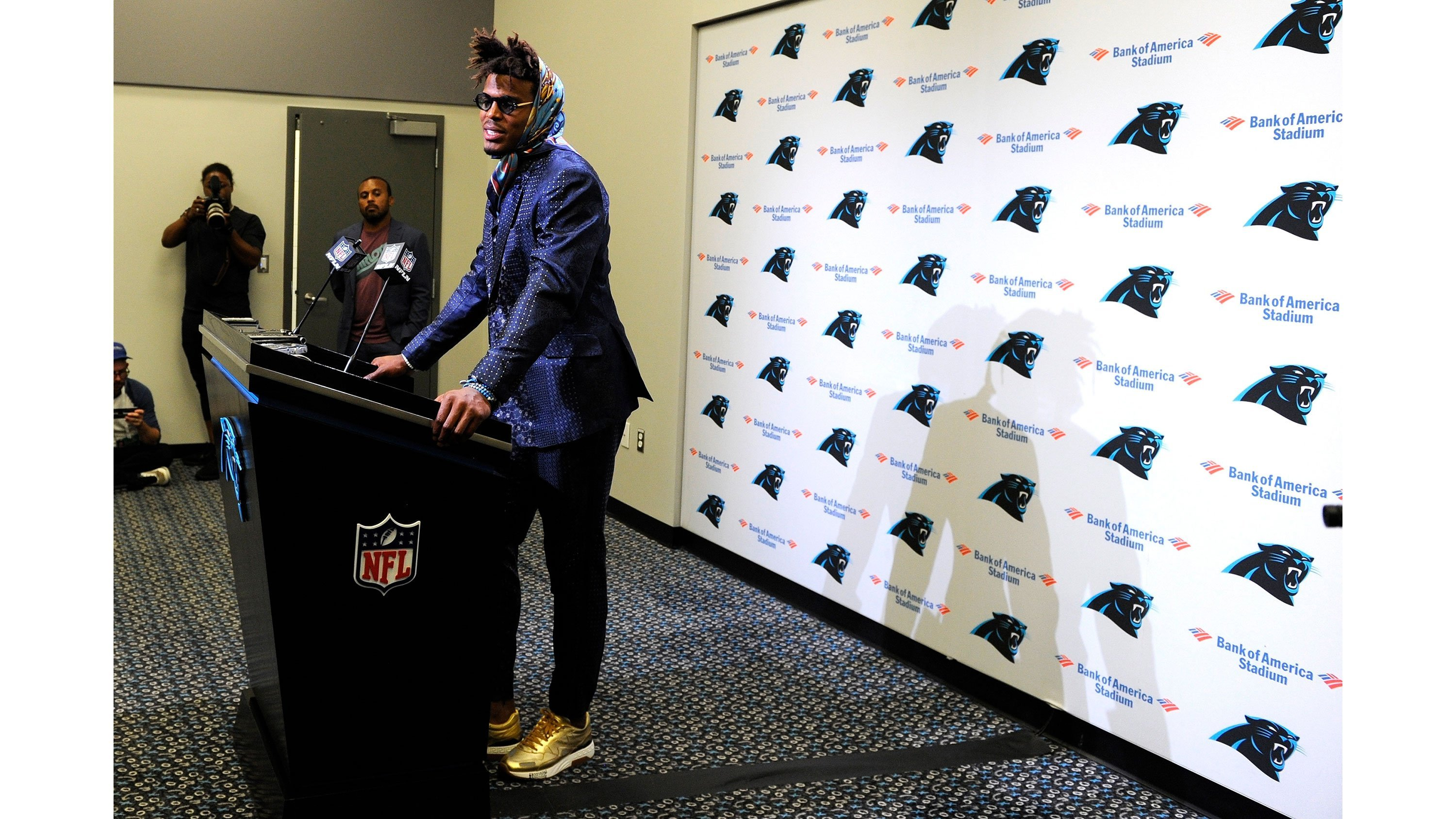 Even by Cam Newton's standards, his most recent post-game outfit was a head-turner