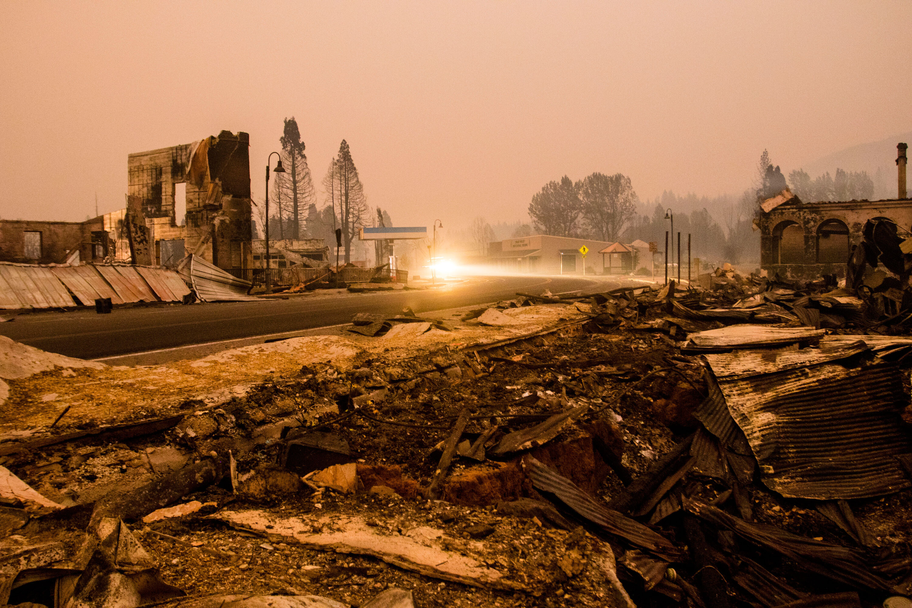 After losing their home to a blaze, they found refuge in a small California town. Then, a fire swept through