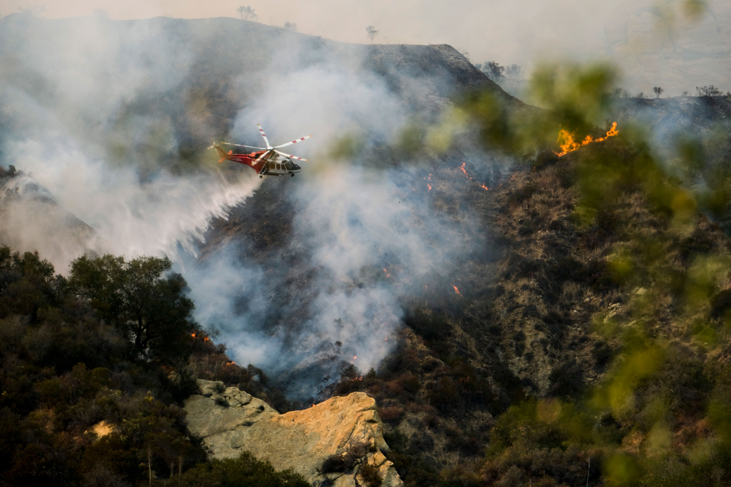 Mandatory wildfire evacuations are ordered for parts of western Los Angeles County