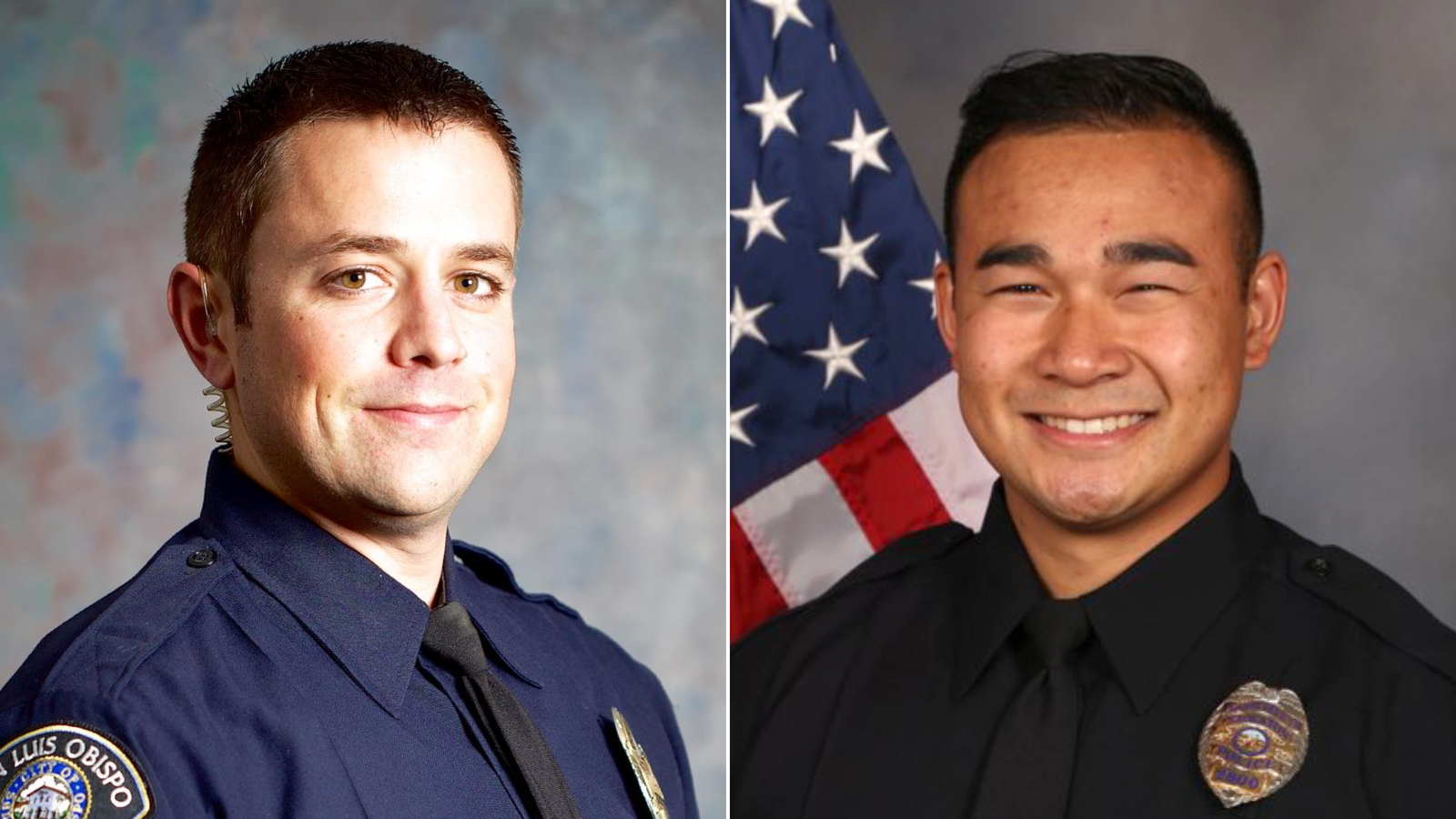 Two California police officers were killed while on duty in a 24-hour span, officials say
