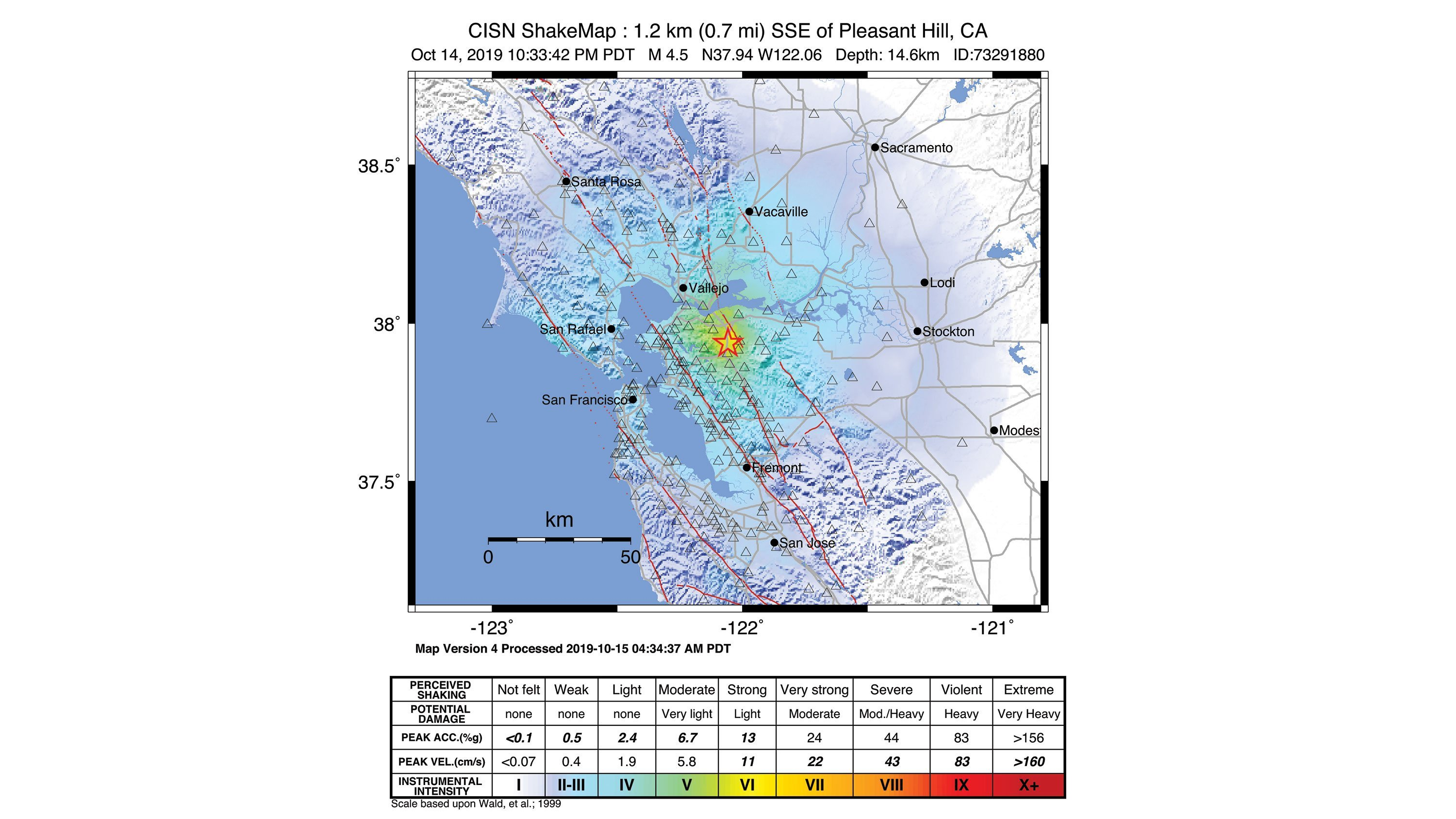 An earthquake struck near San Francisco on Monday