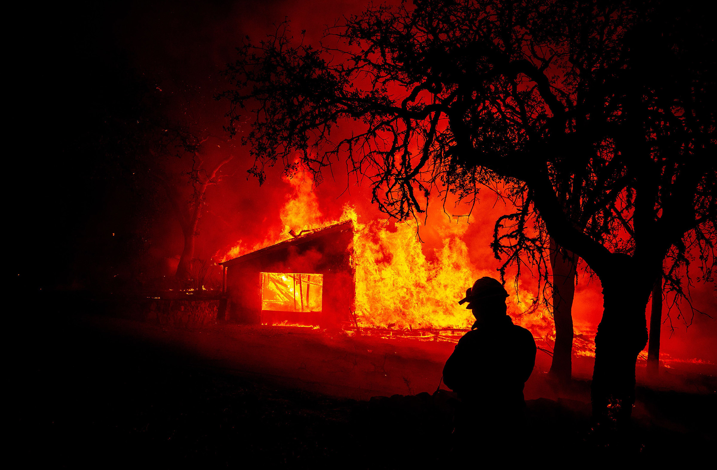Fast-moving fires in California send tens of thousands of residents in wine country fleeing