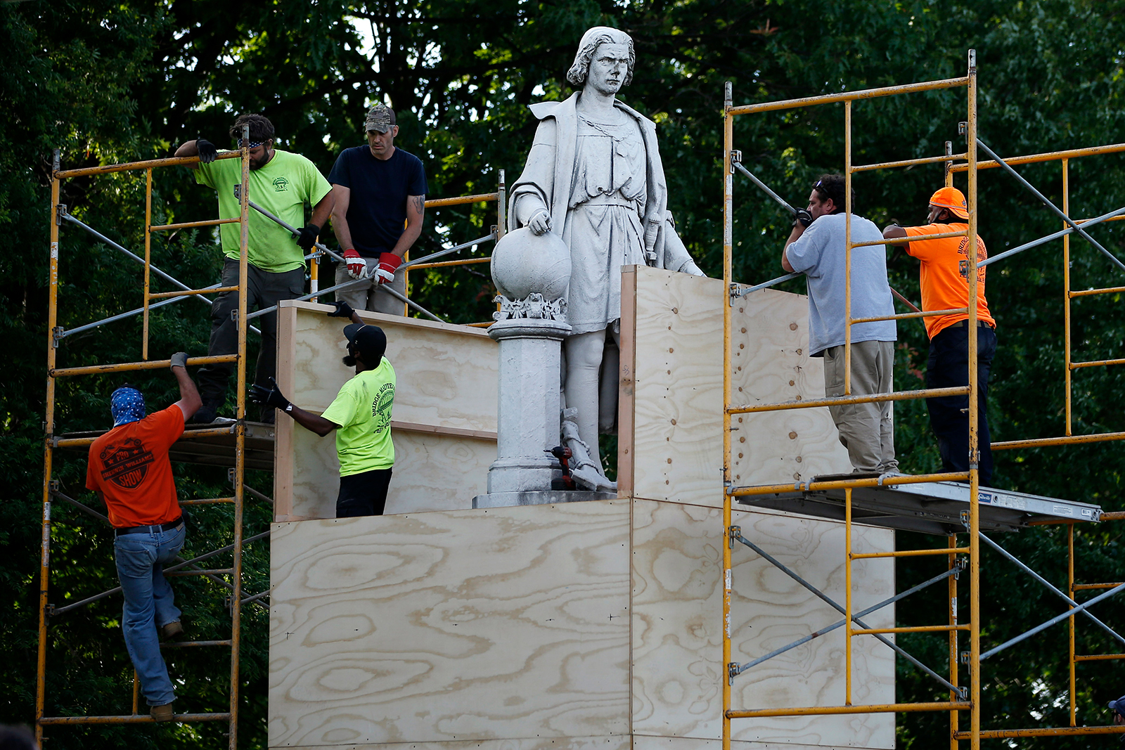 Another city votes to remove a statue of Christopher Columbus