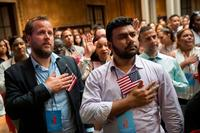 Because of the pandemic, the US postponed citizenship ceremonies for months. That could keep thousands from voting in 2020