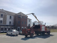 A son used a bucket truck to visit his mother on the third floor of her assisted living home