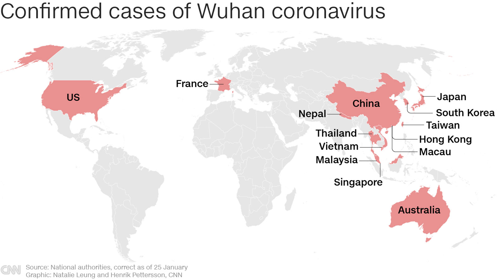 Fifth US case of coronavirus confirmed as China warns people can spread the virus before they feel ill