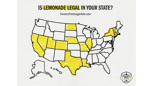 Image for Only 14 states allow unpermitted lemonade stands. Country Time wants the others to do the same