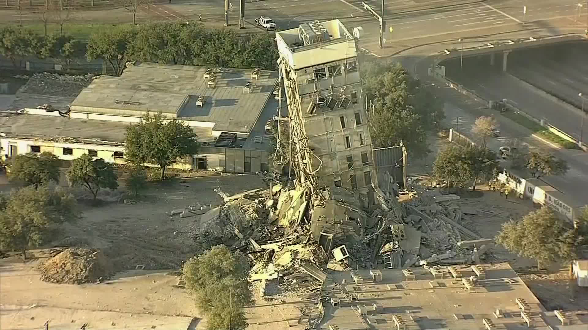 A Dallas building is still standing after an attempt to implode it to make way for new development failed