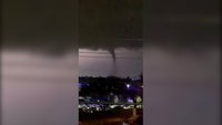 A powerful tornado churned through northern Dallas and left more than 100,000 without power