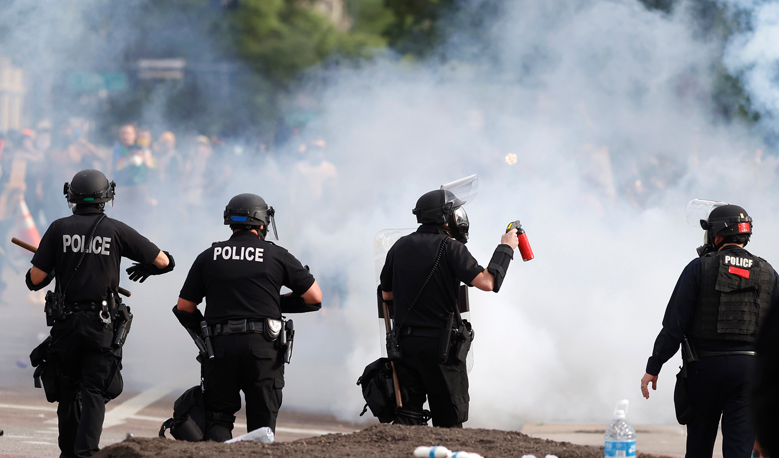 Temporary restraining order prohibits Denver Police from using chemical agents or projectiles against peaceful protesters without supervisor approval
