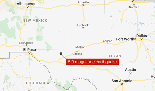 Image for 5.0-magnitude earthquake shakes West Texas and El Paso area