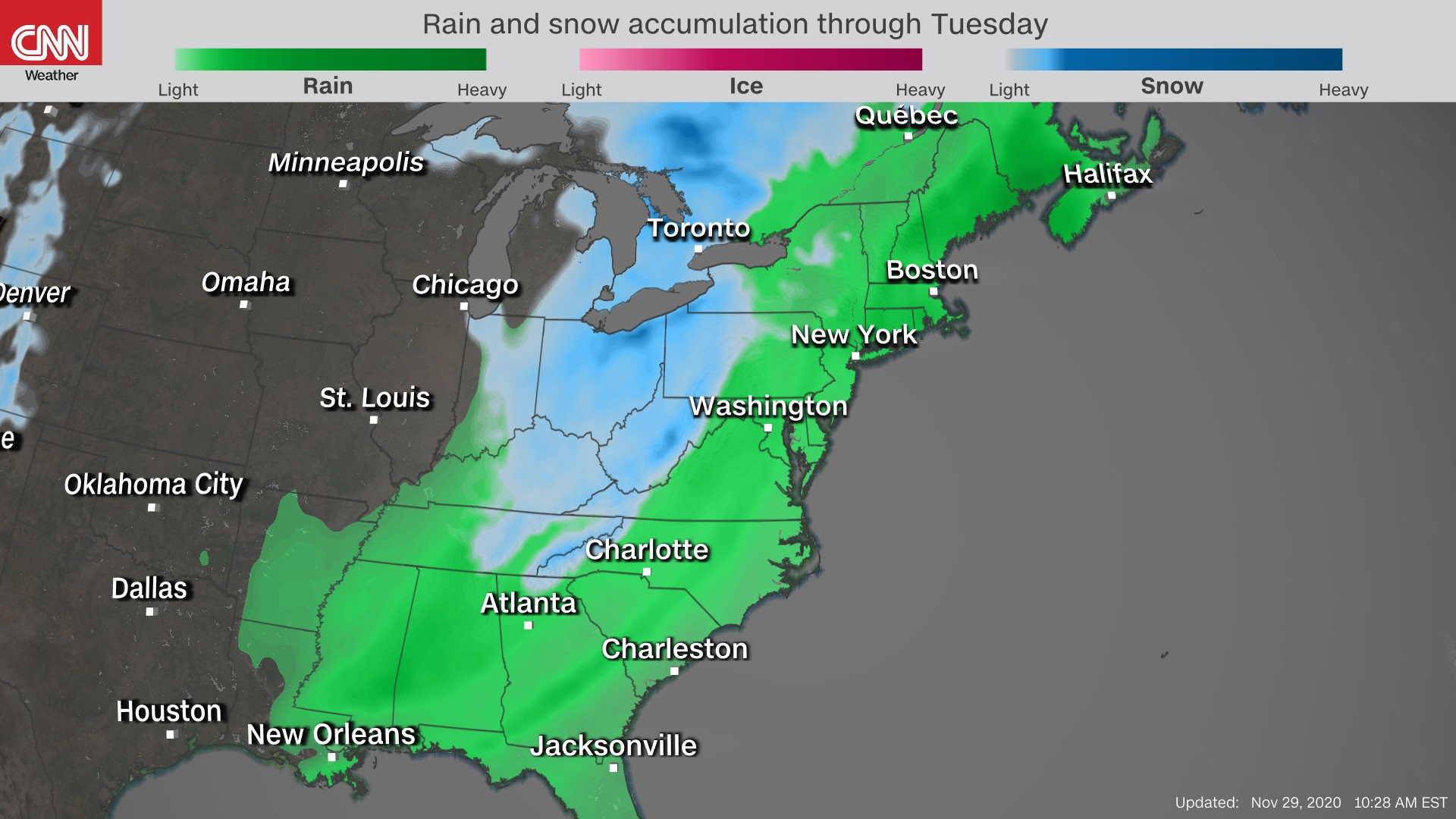 East Coast braces for snow, heavy rain in first major storm system of the fall