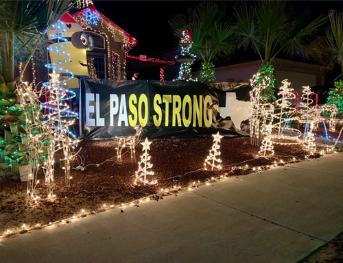 Image for A family is putting up 22 angels on a Christmas display for the El Paso Walmart shooting victims