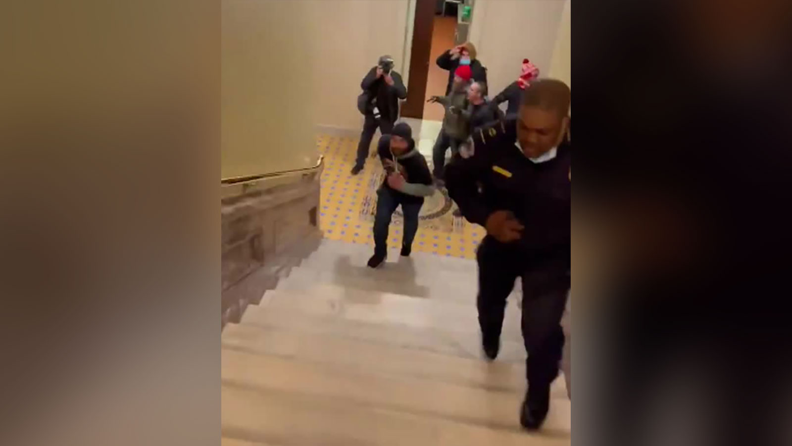 Lawmakers want to award a Congressional Gold Medal to the Capitol Police officer who lured rioters away from the Senate chambers