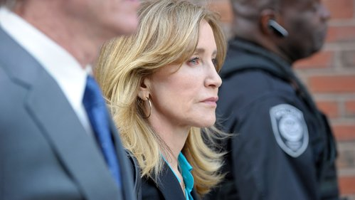 Image for New photo shows Felicity Huffman in a prison uniform as she serves 13 days in college cheating case