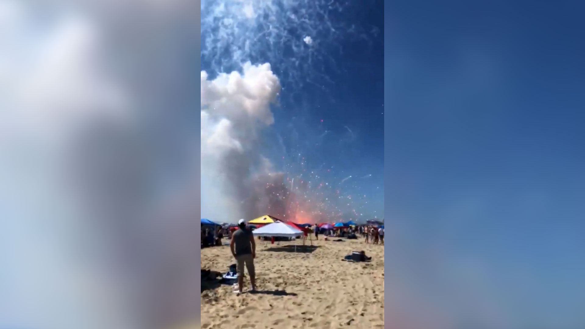 Fireworks meant for July 4th display in Maryland's Ocean City accidentally explode