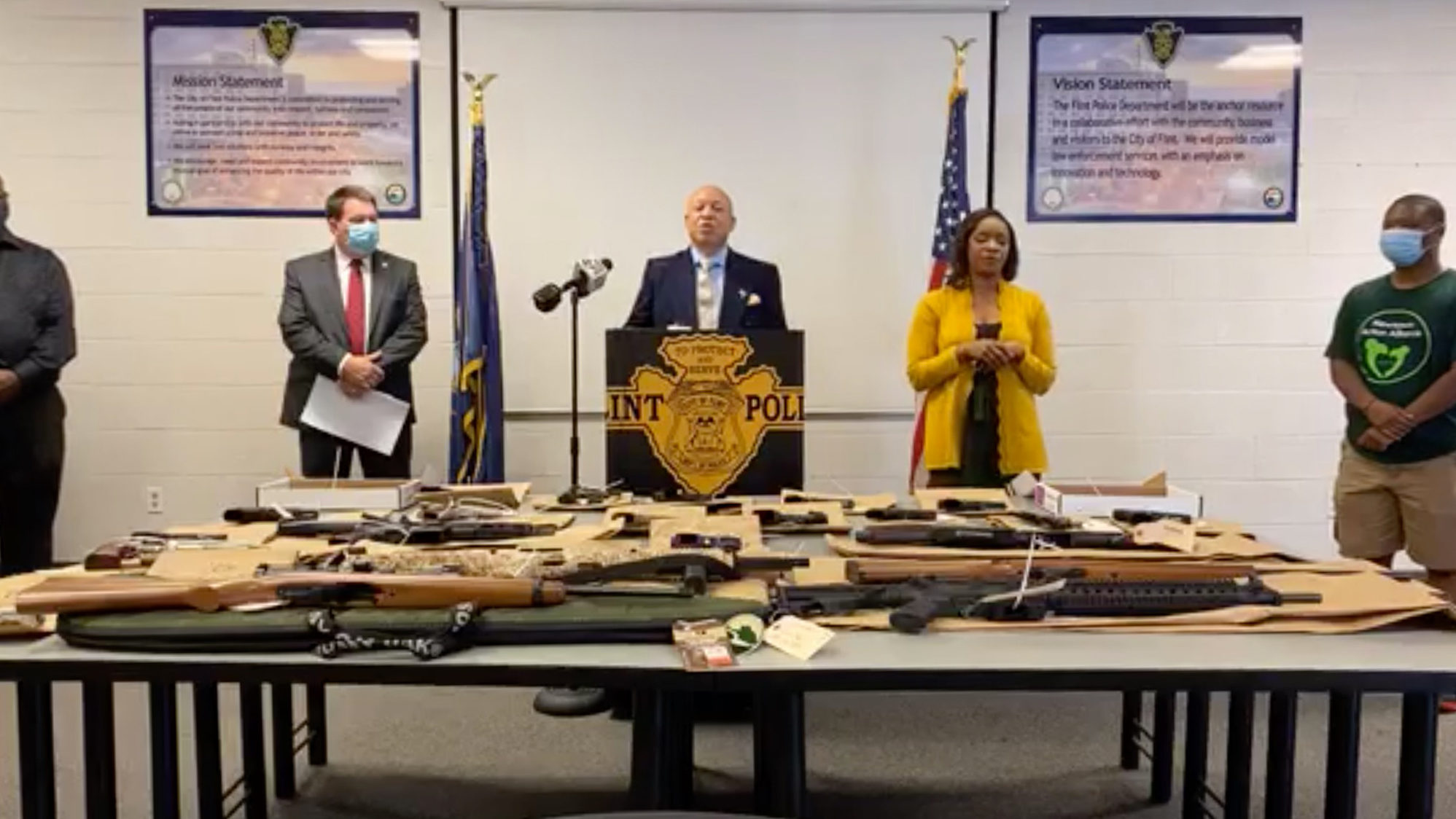 Flint, Michigan, will destroy guns seized by police rather than auctioning them