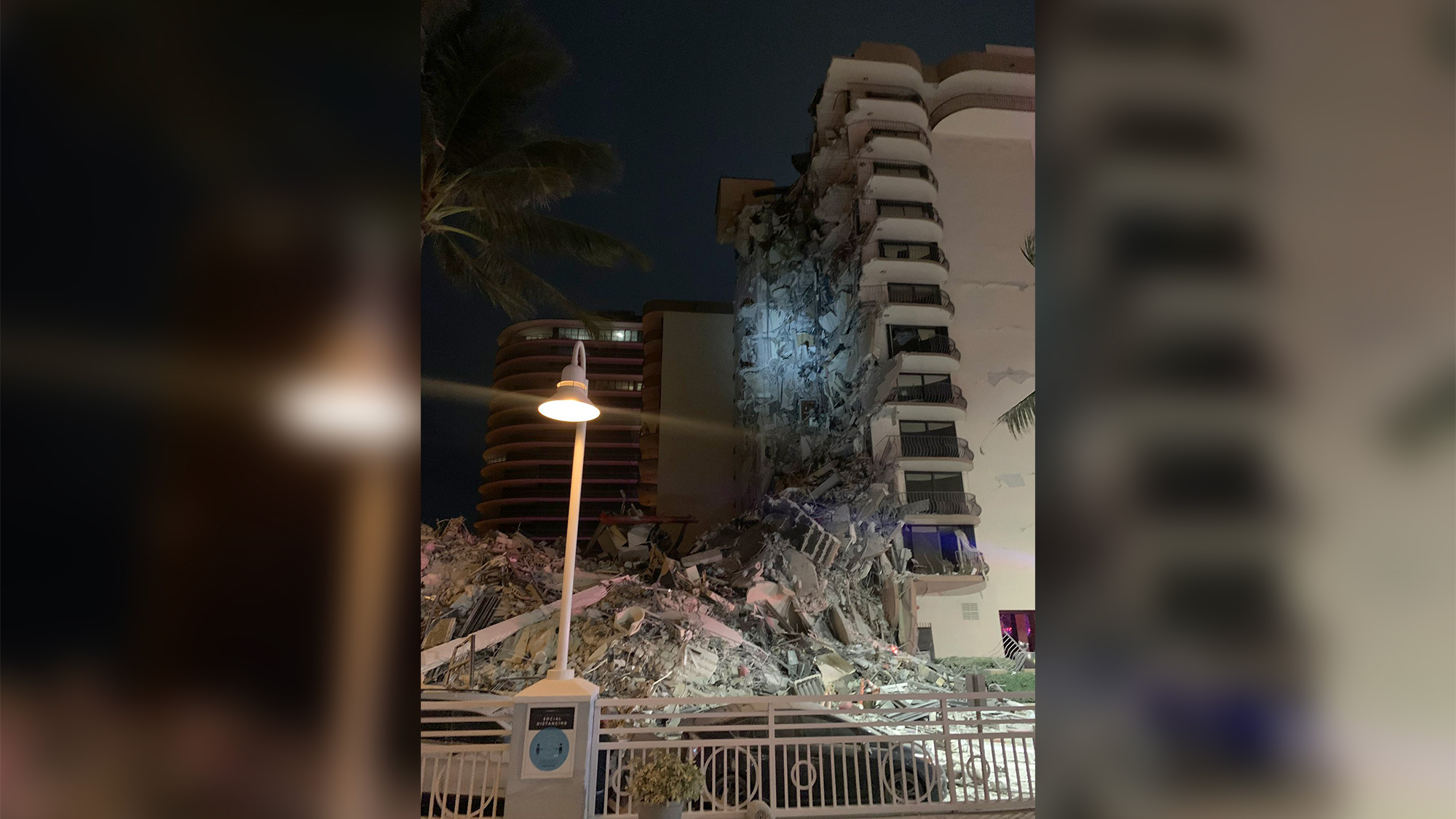 A multistory residential building in Surfside, Florida, has partially collapsed, authorities say