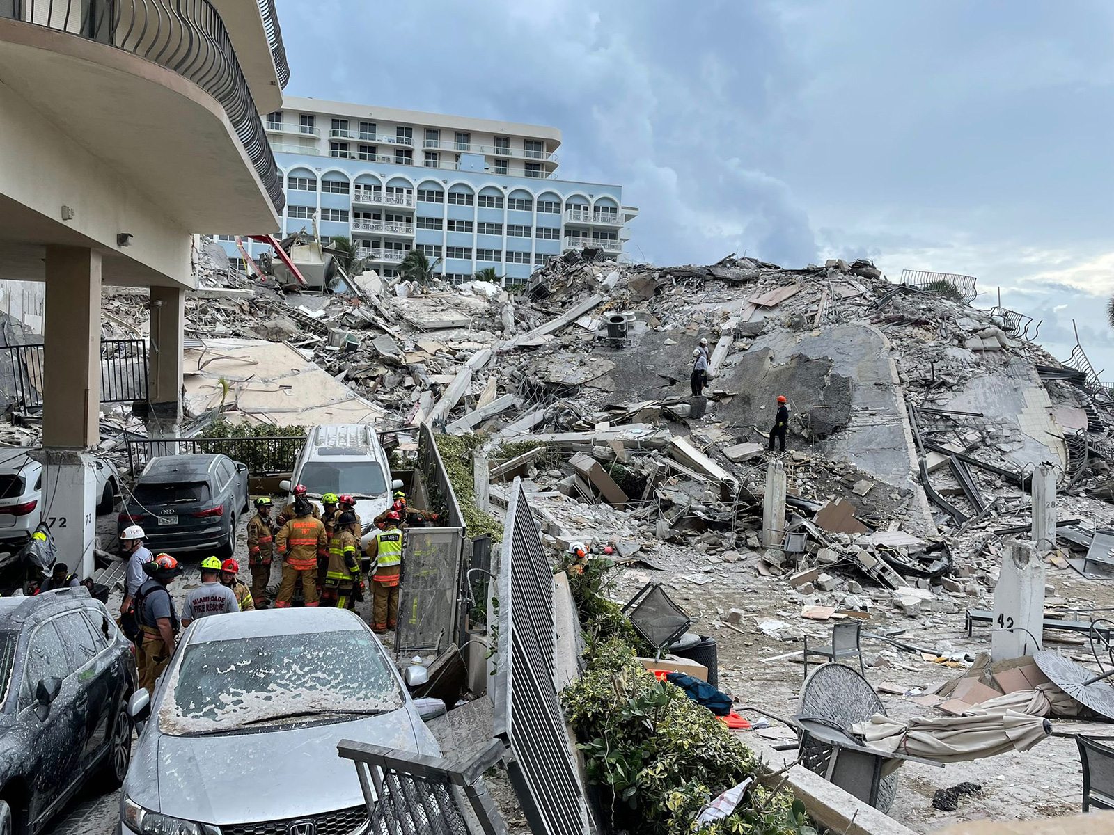 Condo residents saw pool deck and garage collapse before tower crumbled to the ground