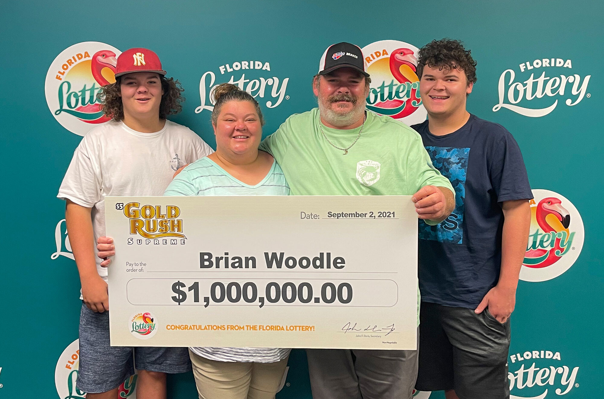 Florida auto repair shop owner wins $1 million lottery on his first day of business