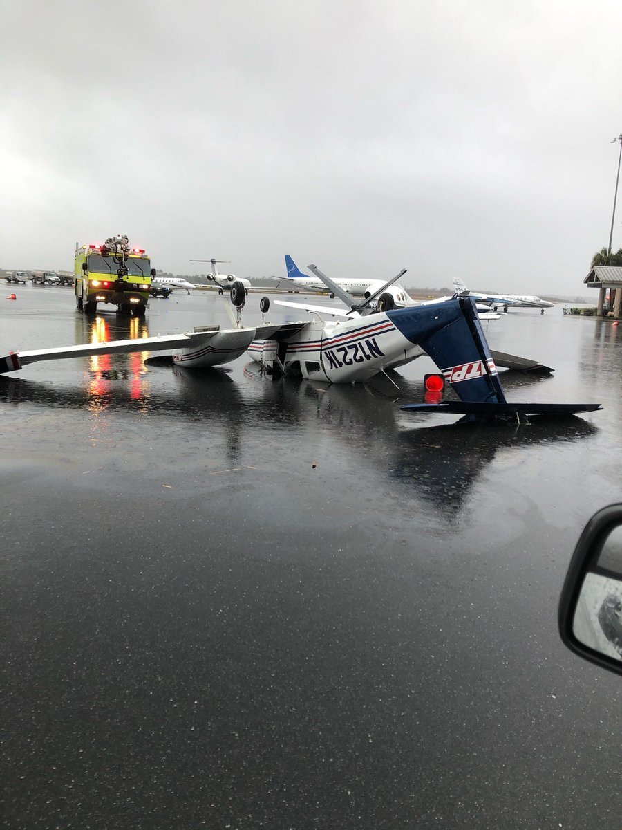 A tornado strikes Florida's capital, damaging Tallahassee International Airport