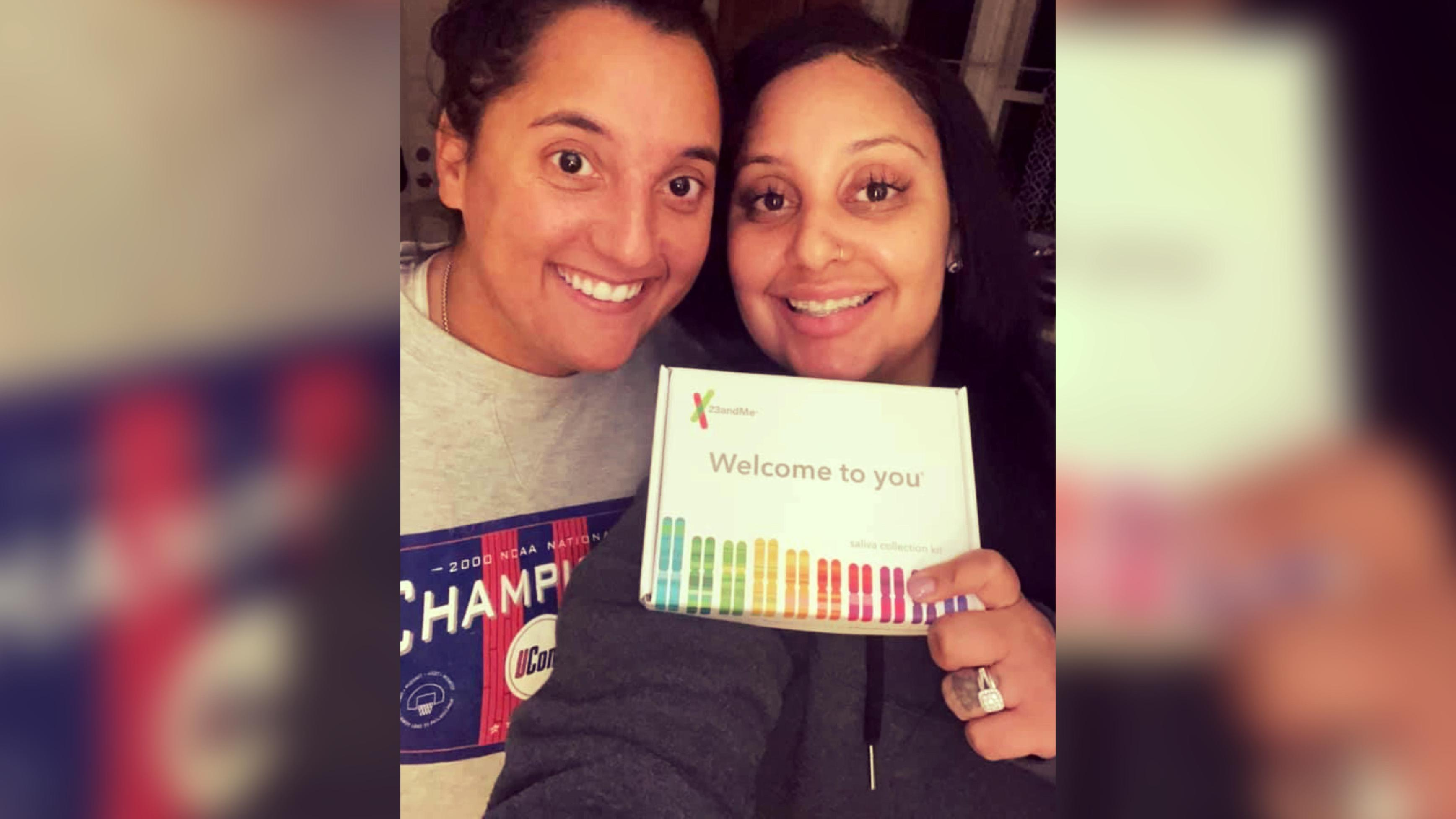 Friends find out they're biological sisters years after they met working at the same restaurant