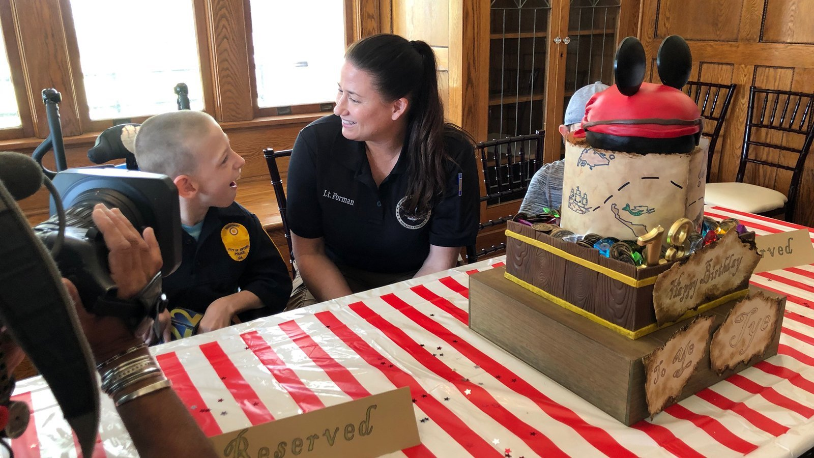 Georgia police throw a surprise birthday party for boy with cerebral palsy
