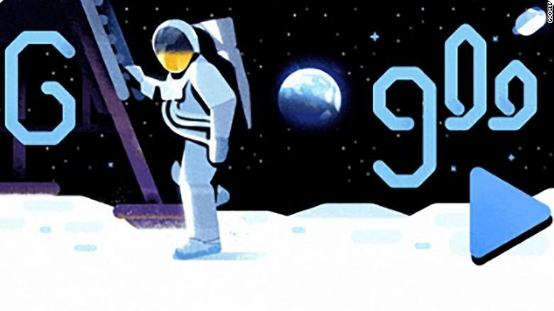 Google celebrates 50 years since the moon landing with an out-of-this-world Doodle