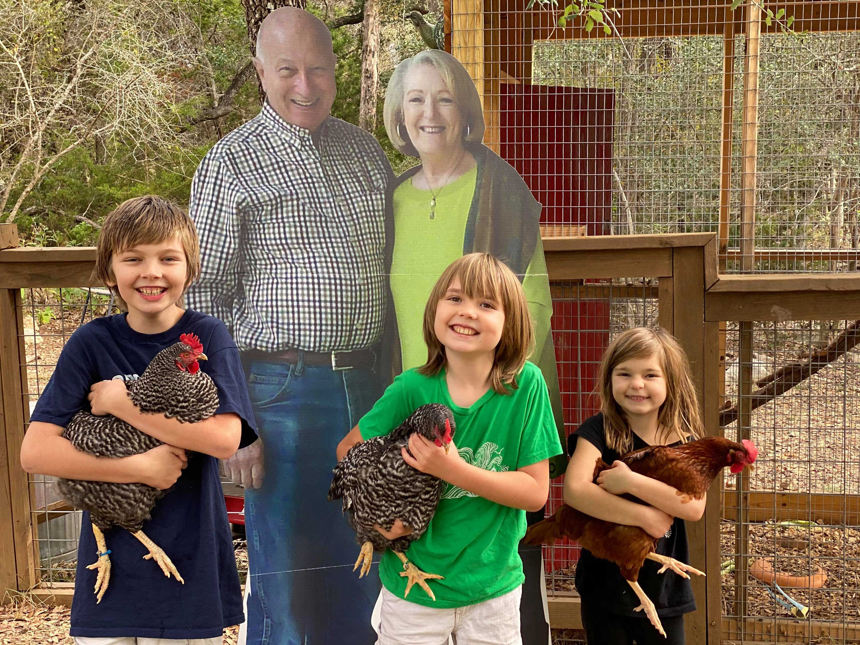 Couple sends life-sized cardboard cutouts to their grandkids after coronavirus canceled their holiday plans