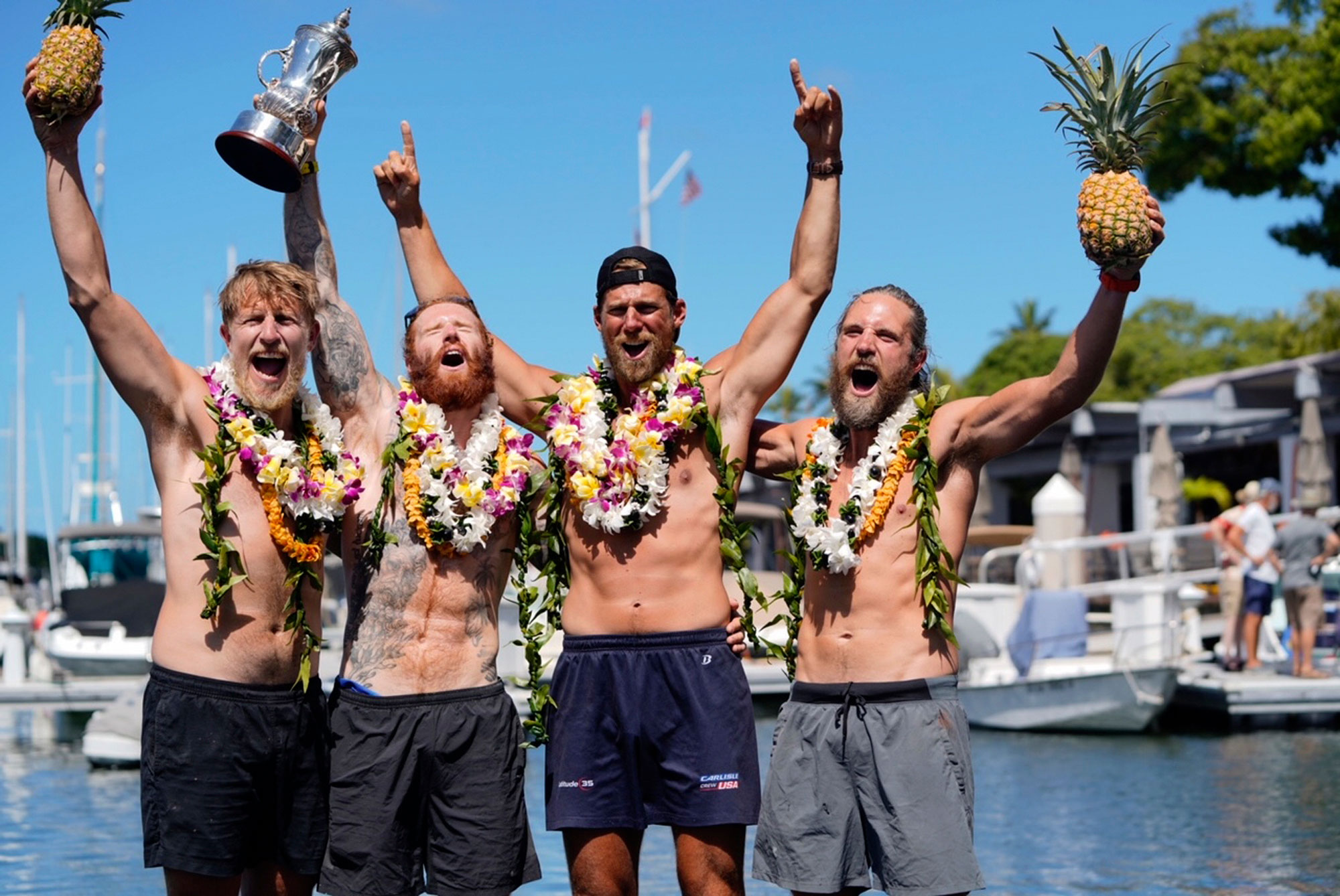 Rowing team completes journey from San Francisco to Honolulu in reported record time