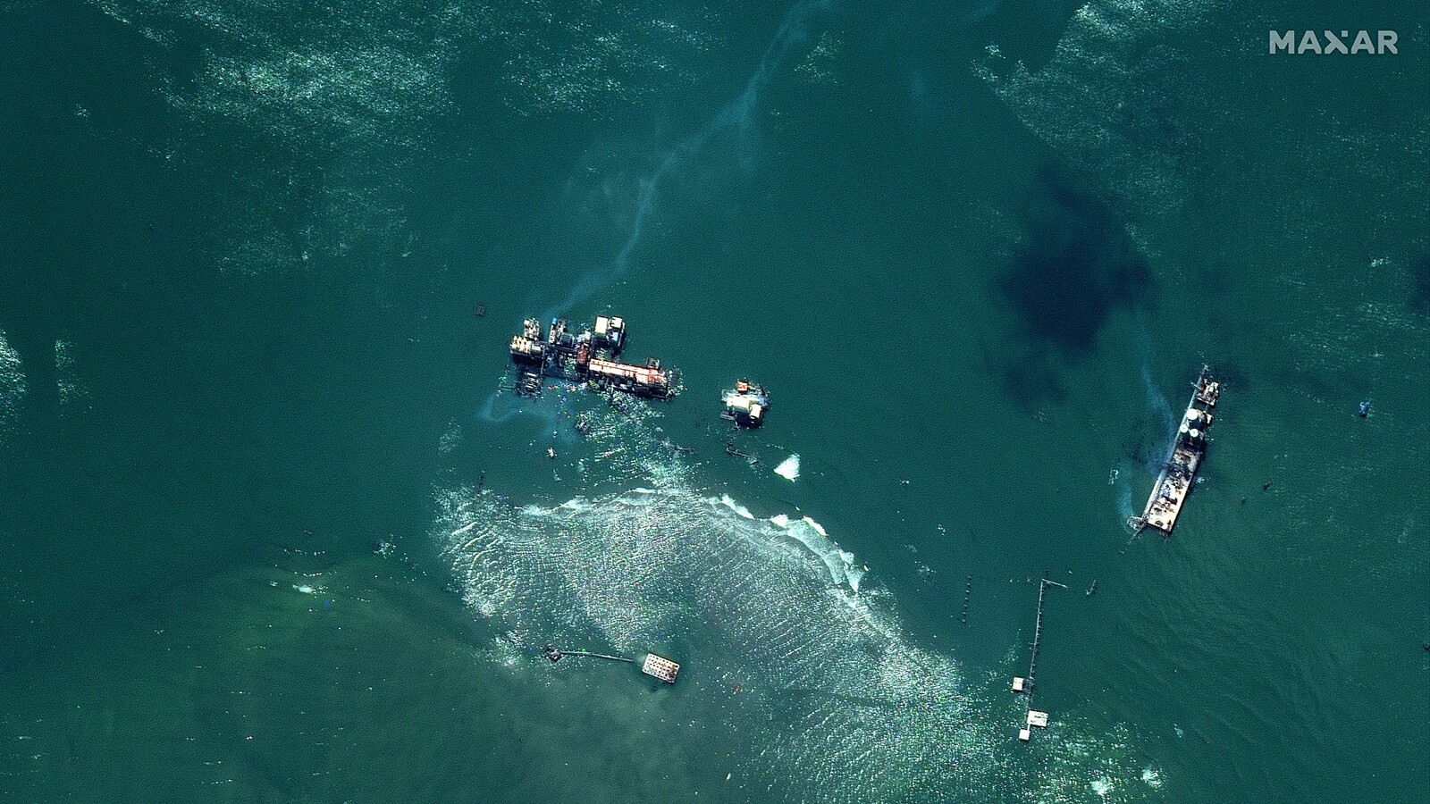 An oil leak off the coast of Louisiana spread for miles and no one knows who is responsible