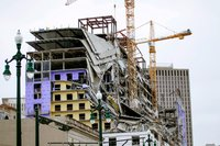 Two cranes were toppled at the Hard Rock Hotel in New Orleans. The next step is searching for bodies