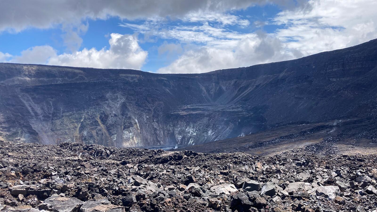 Kilauea volcano alert raised as a swarm of small earthquakes hits the region