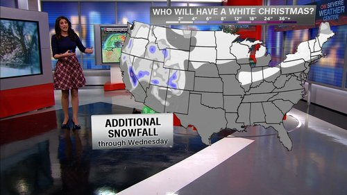 Image for It could be a white or wet Christmas depending on where you live in the US