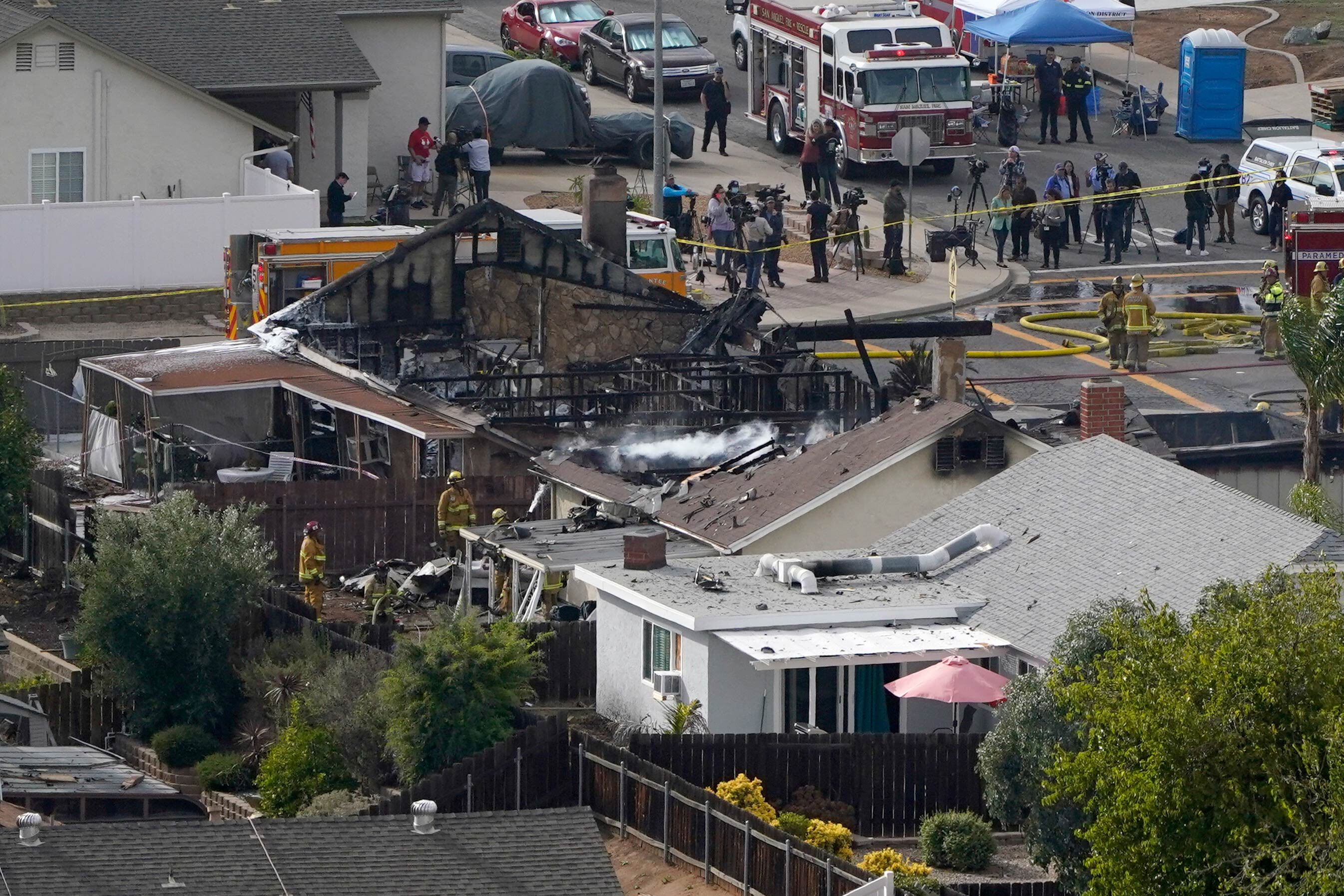 California couple's home was destroyed Monday by a small plane crash that killed at least two people