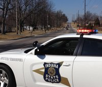 An Indiana State Trooper vehicle was struck by a dirty diaper