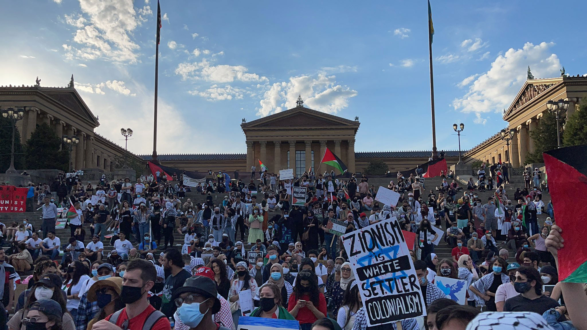 People across the US join pro-Palestinian protests