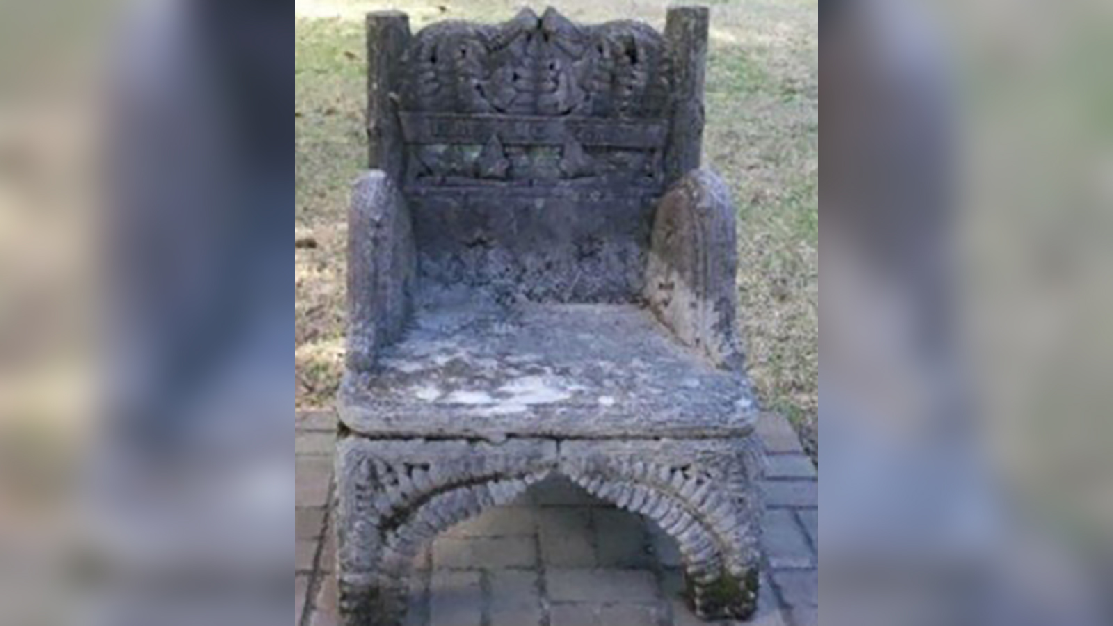 Jefferson Davis' chair, stolen from an Alabama cemetery, has been recovered and 2 people have been arrested